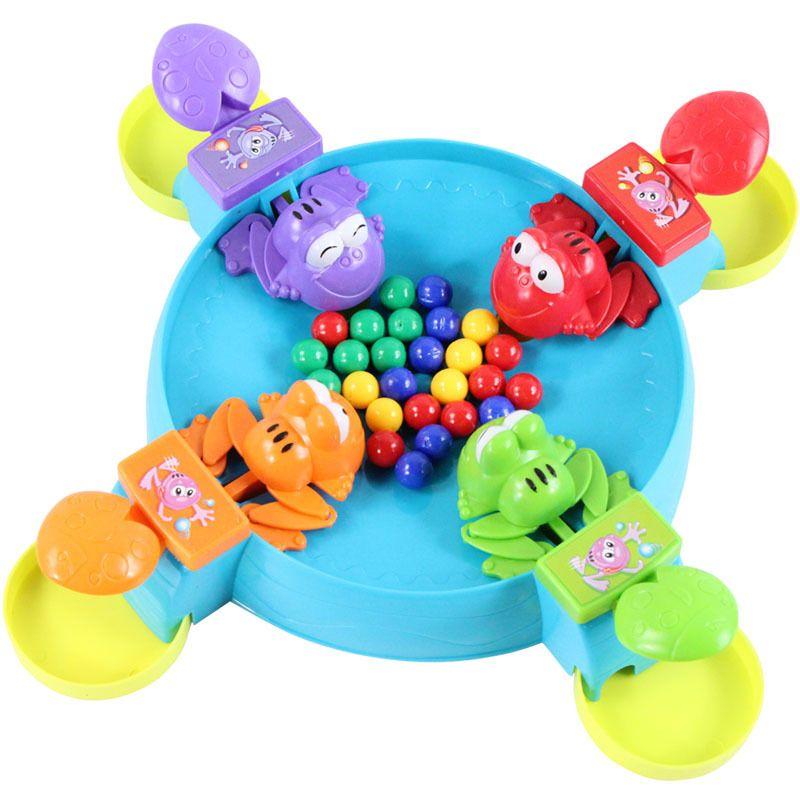 Freies Verschiffen Qualitätswaren Frosch, der Bohnen isst Tischplattenspaßspiel Elternteilkindpuzzlespiel Froschansturmbohnen Tabellenspiele