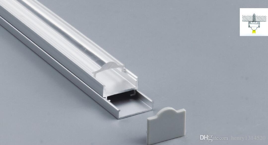 Di trasporto del nuovo 2m / pz Led in alluminio Profilo con coperchio trasparente o bianco latte PC per la striscia principale
