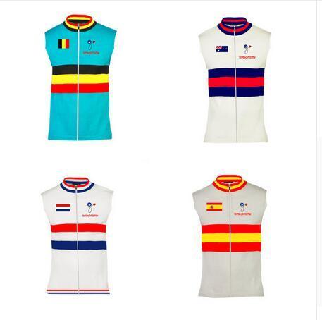 2015 ciclismo camiseta chaleco ropa sin mangas desgaste Australia España Bélgica Holanda Holanda Selección Nacional nowgonow bicicleta bicicleta