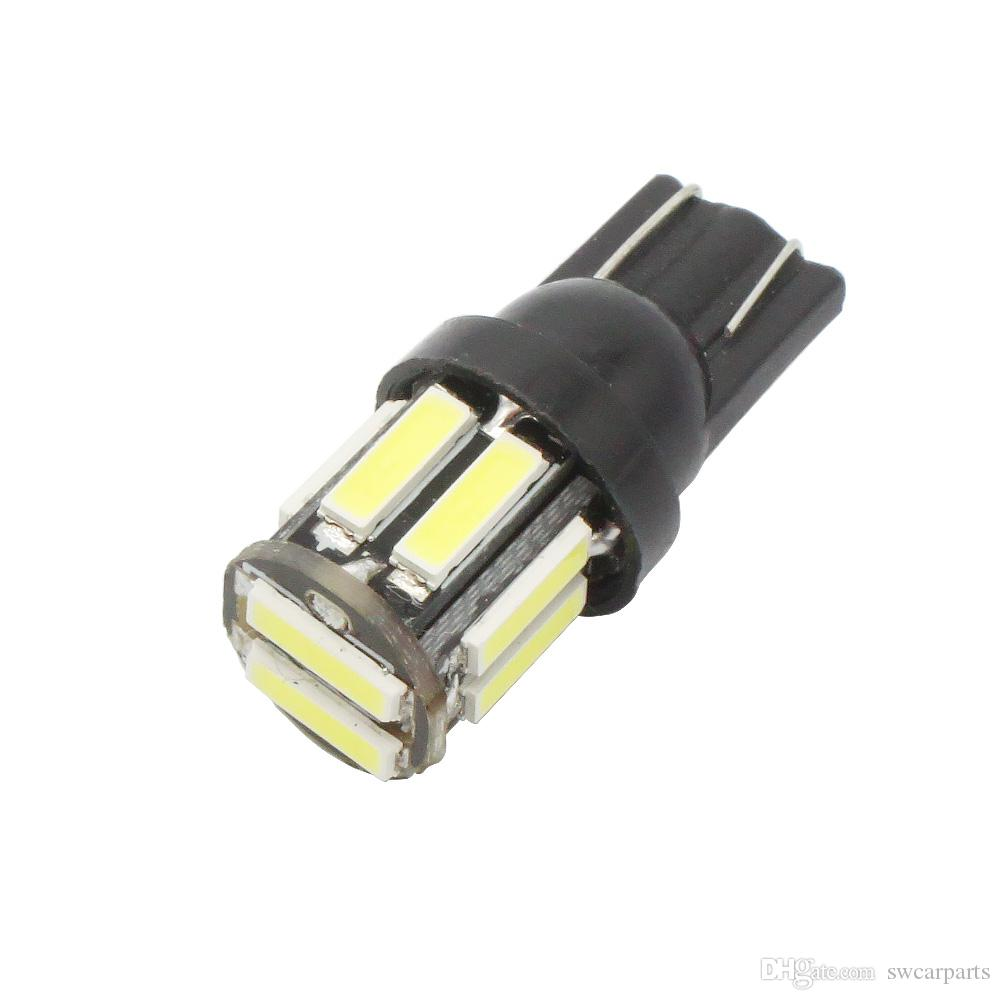 T10 10-SMD 7020 LED W5W Wedge Replacement Reverse White Blue Bulb For Clearance light DC 12V Lamp