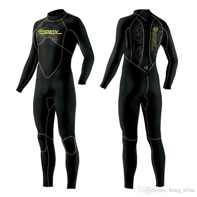 5MM hombres traje de neopreno de surf traje de buceo traje de manga larga a mantener el calor interno con microvellosidades de pesca submarina de buceo traje de buceo