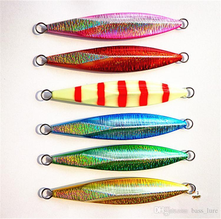 Hot Big Fishing Multicolor Metal Jigs Cebos artificiales 60g 70g 80g 100g Aolly Acero inoxidable Hierro blackfish Culter señuelos