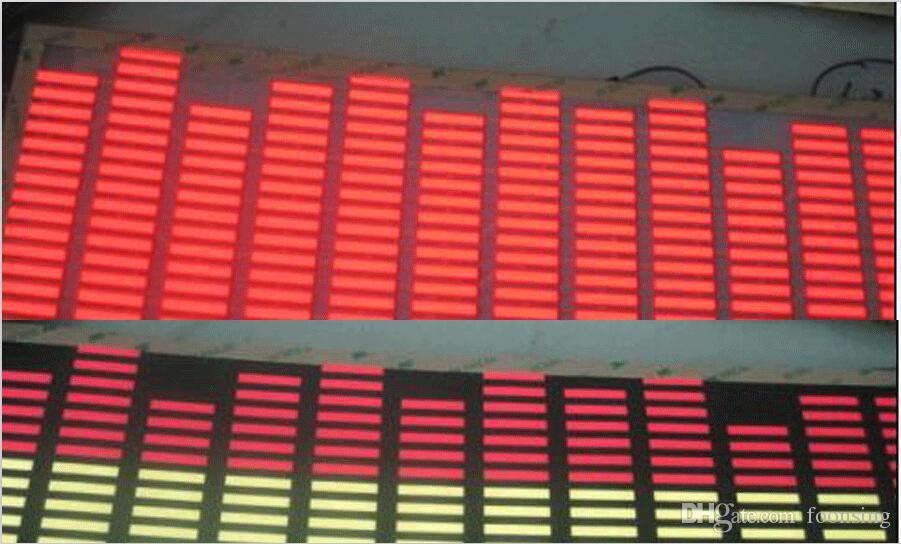 Этап флуоресцентный реквизит одежда светодиодный эквалайзер 70*16см красный цвет, длительный срок службы стикера автомобиля выравнивателя El