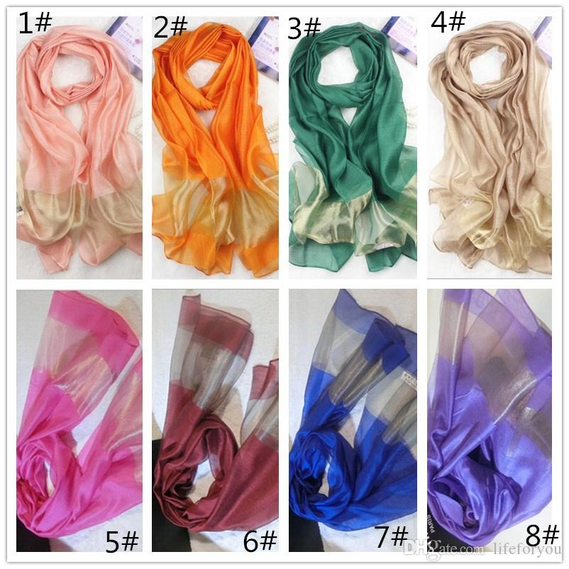 silk scarves fashion wraps Ladies Women spring autumn candy color scarf gorgeous shawl casual fashion ring accessories, easy to match