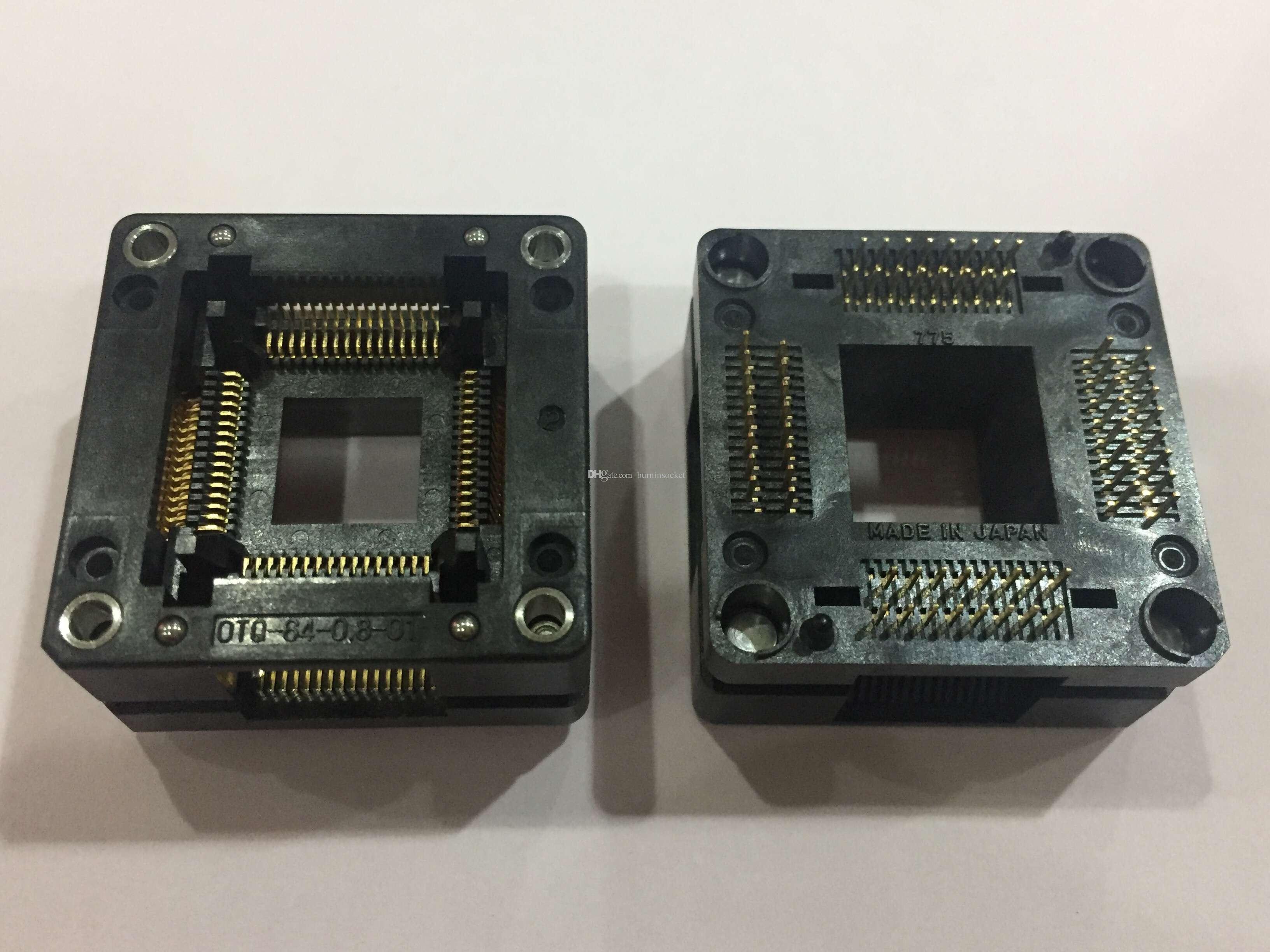 Enplas IC TEST SOCKET OTQ-64-0.8-01 QFP64PIN 0.8MM PITCH BURN IN SOCKET