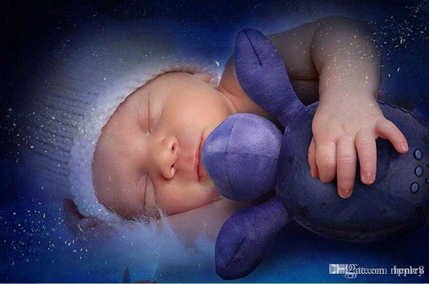 20pcs una bolsa Los niños bebé dormir luz nocturna espíritu creativo lámpara mar, océano Estrella Proyector lámpara, velocidad sonido de las olas