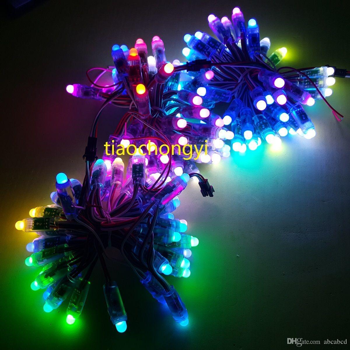 50PCS WS2811 RGB farbenreiche 12mm Pixel digital adressierbare LED Schnur DC 5V