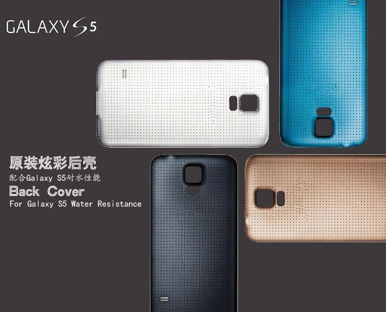 Samsung Galaxy S5 I9600 G900F G900T G900P G900V M Arka Arka Pil Kapı Kapak Konut Lastikli Mat Su geçirmez Yedek Parça için 1PCS