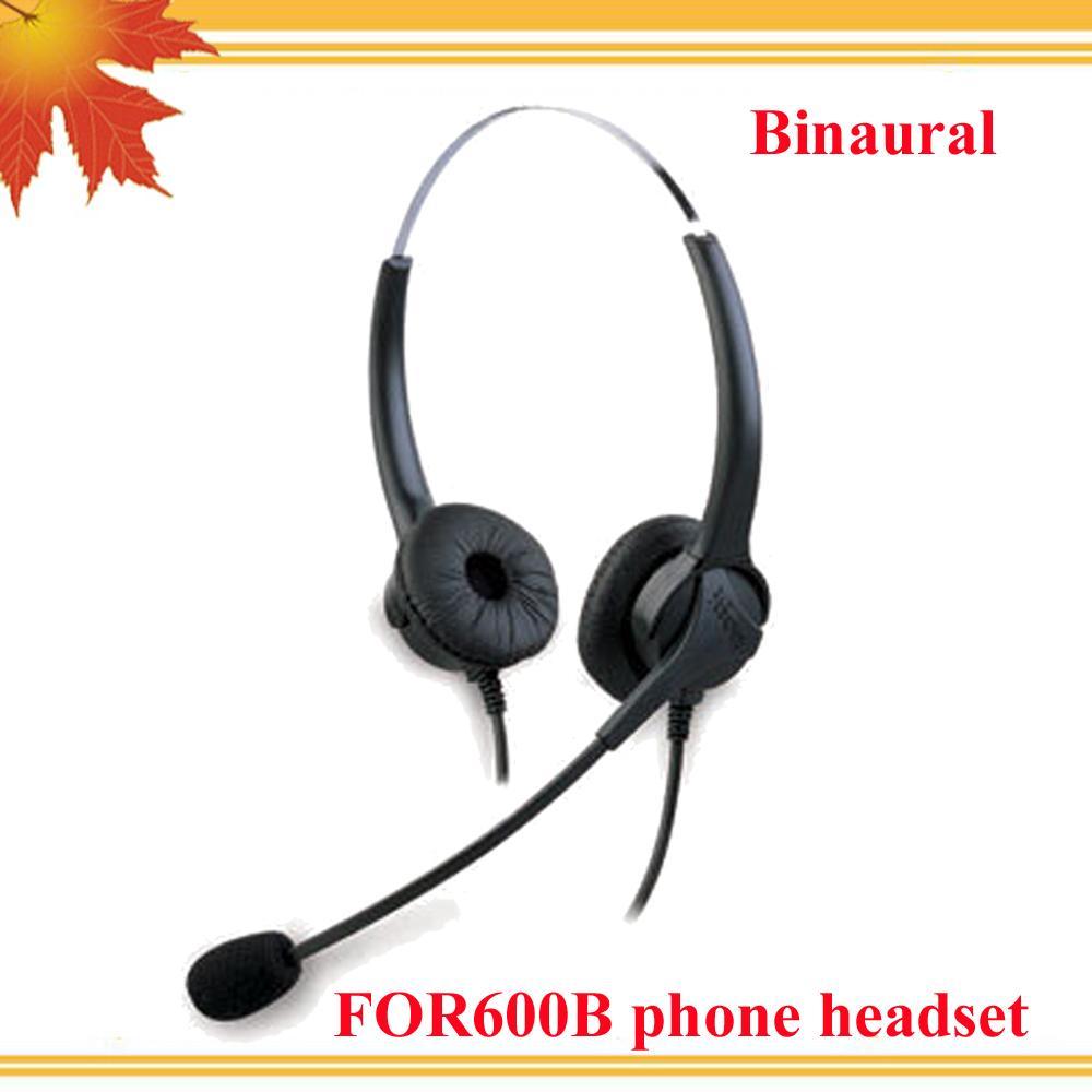 Cuffia per call center binaurale diretta con spina RJ09 per telefono di casa ufficio e SOHO