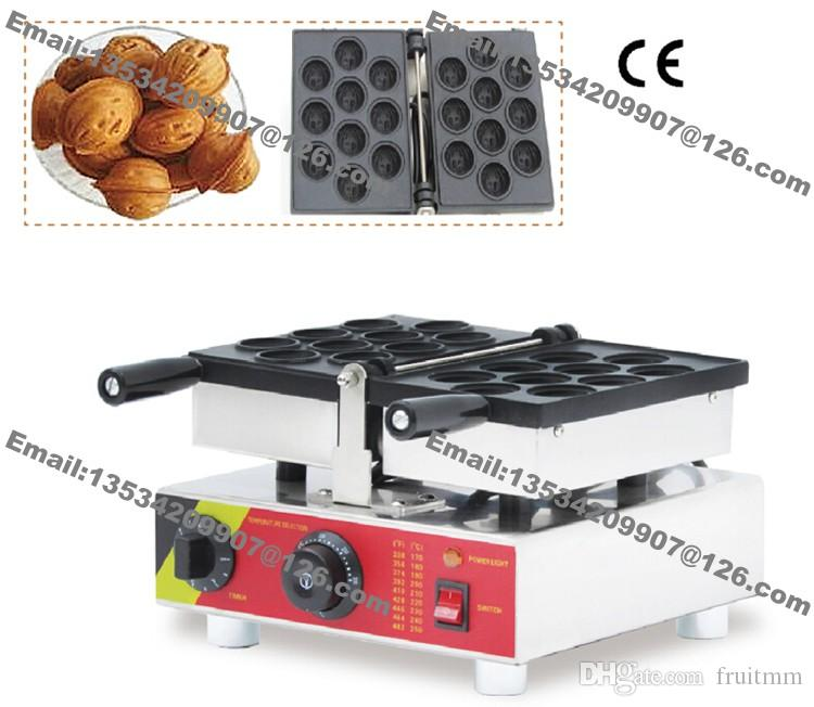 Commercial Nonstick Electric Heart Shaped Waffle Maker Iron Baker Machine Mold