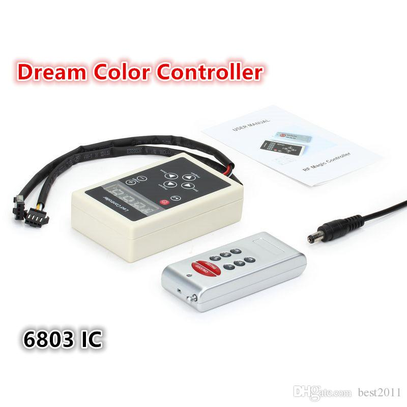 DC12V 6803IC LED Controller RF Wireless Remote Control For 5050 Magic Dream Color RGB LED Strip