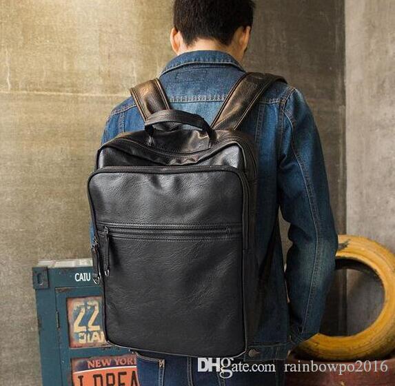 Las ventas de fábrica a estrenar la mochila de la marca del ocio del viento del bolso de los hombres de la universidad de Europa para los estudiantes masculinos y femeninos llevan ba de cuero flexible