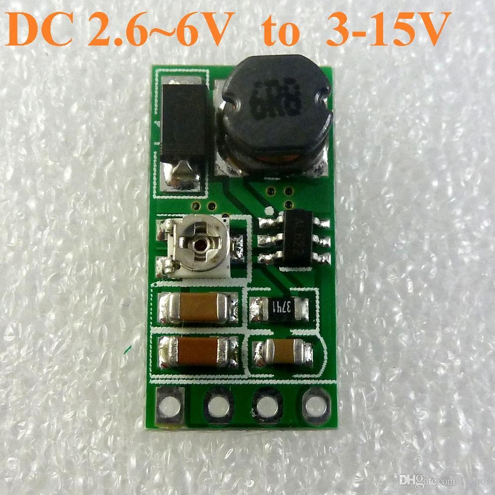 DD06AJSB DC 3.3V 3.7V 5V bis 6V 9V 12V Adjustable Step-Up-Boost-Spannungsregler Stromversorgungsmodul