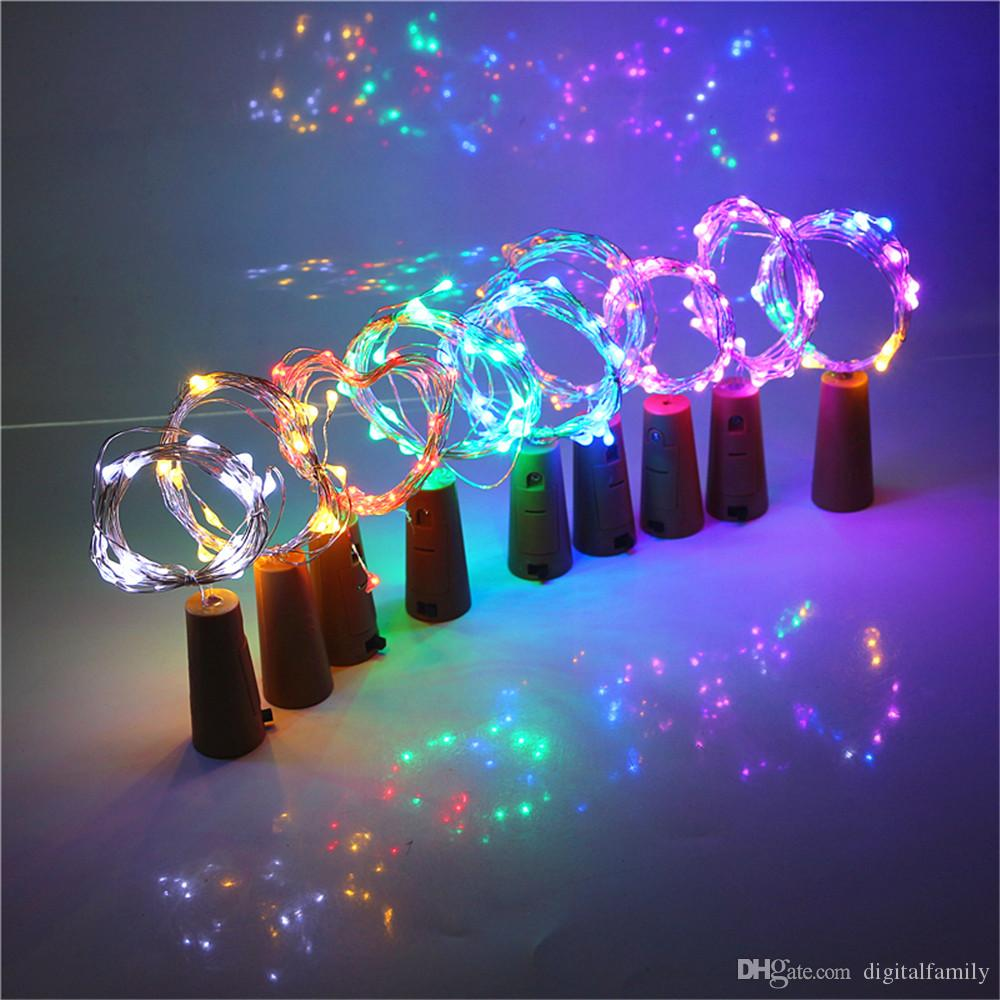 2M 20LED Lamp Cork Shaped Bottle Stopper Light Glass Wine 1M LED Copper Wire String Lights For Xmas Party Wedding Halloween