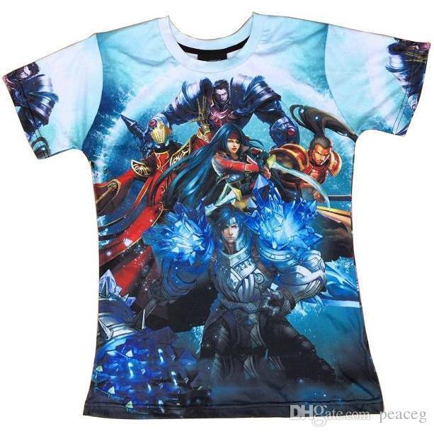 Prodigal Explorer Ezreal T-shirt Garen Robe À Manches Courtes Jeu Loisir T-shirts Vêtements De Rue Imprimé Unisexe Coton Tshirt