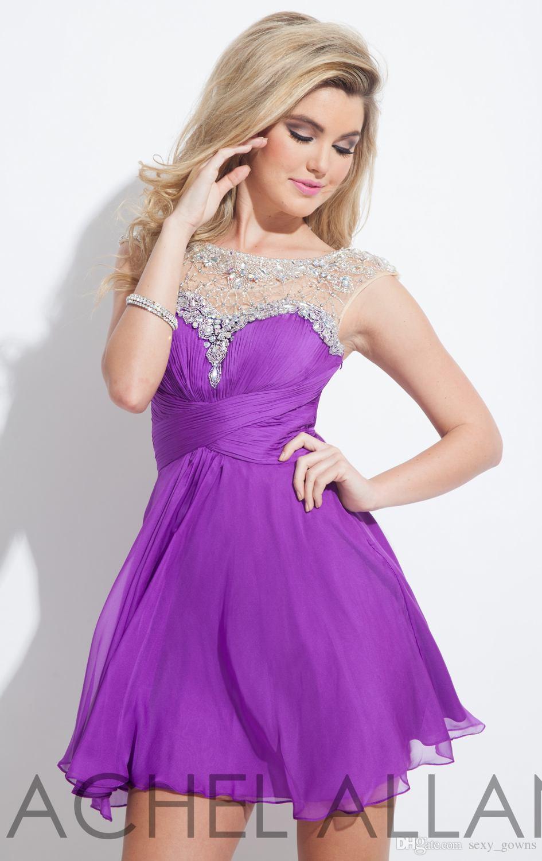 Lujoso Vestido De Cóctel De Color Púrpura Oscuro Foto - Vestido de ...