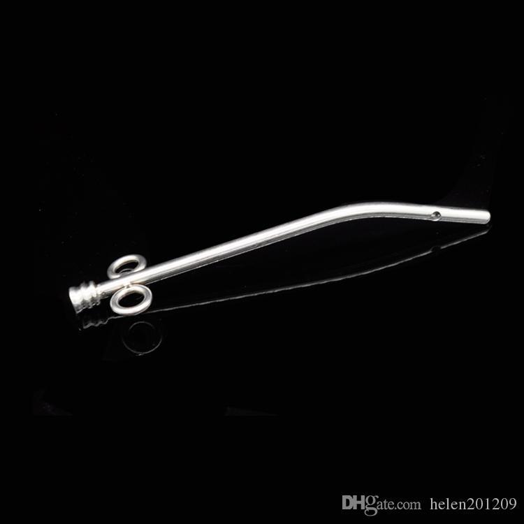 160mm Metallkatheter Stahl Edelstahl Doppel Metall Harnmännchen Erwachsene Männer Für Sex Penis Fetisch Stecker Spielzeugschleife Spiel A201 Jroir