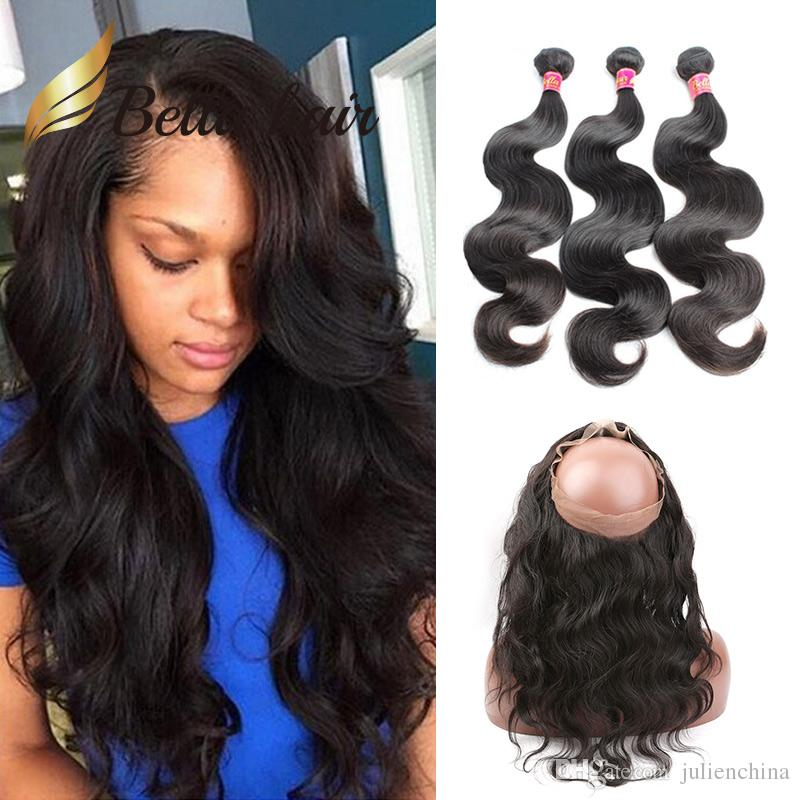 360 lace frontal with bundles wet n wavy Peruvian human hair body wave 3 bundles and frontal sew in Unprocessed Virgin Hair