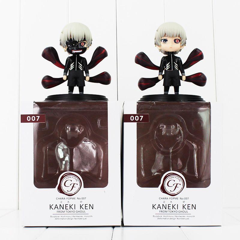Figurine Ken Kaneki Tokyo Ghoul Kaneki Figurine Ken en PVC à collectionner, modèle, jouets, poupée, avec boîte, 10cm, 2 styles / ensemble
