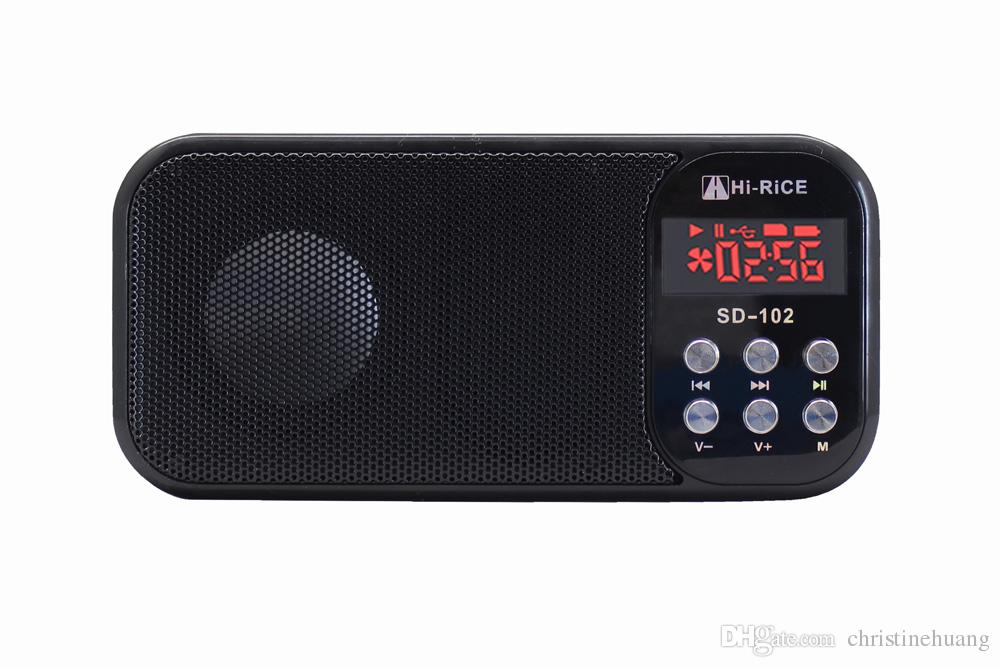 Tragbares Audio & Video SchöN 1 Pc Mini Lcd Digital Audio Fm Radio Lautsprecher Usb Micro Sd Tf Karte Mp3 Musik Player BüGeln Nicht