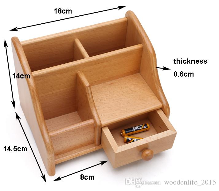 Perfect ... Beech Drawer Storage Wooden Remote Control Storage Box Toys Clothing  Office Jewelry Organizer