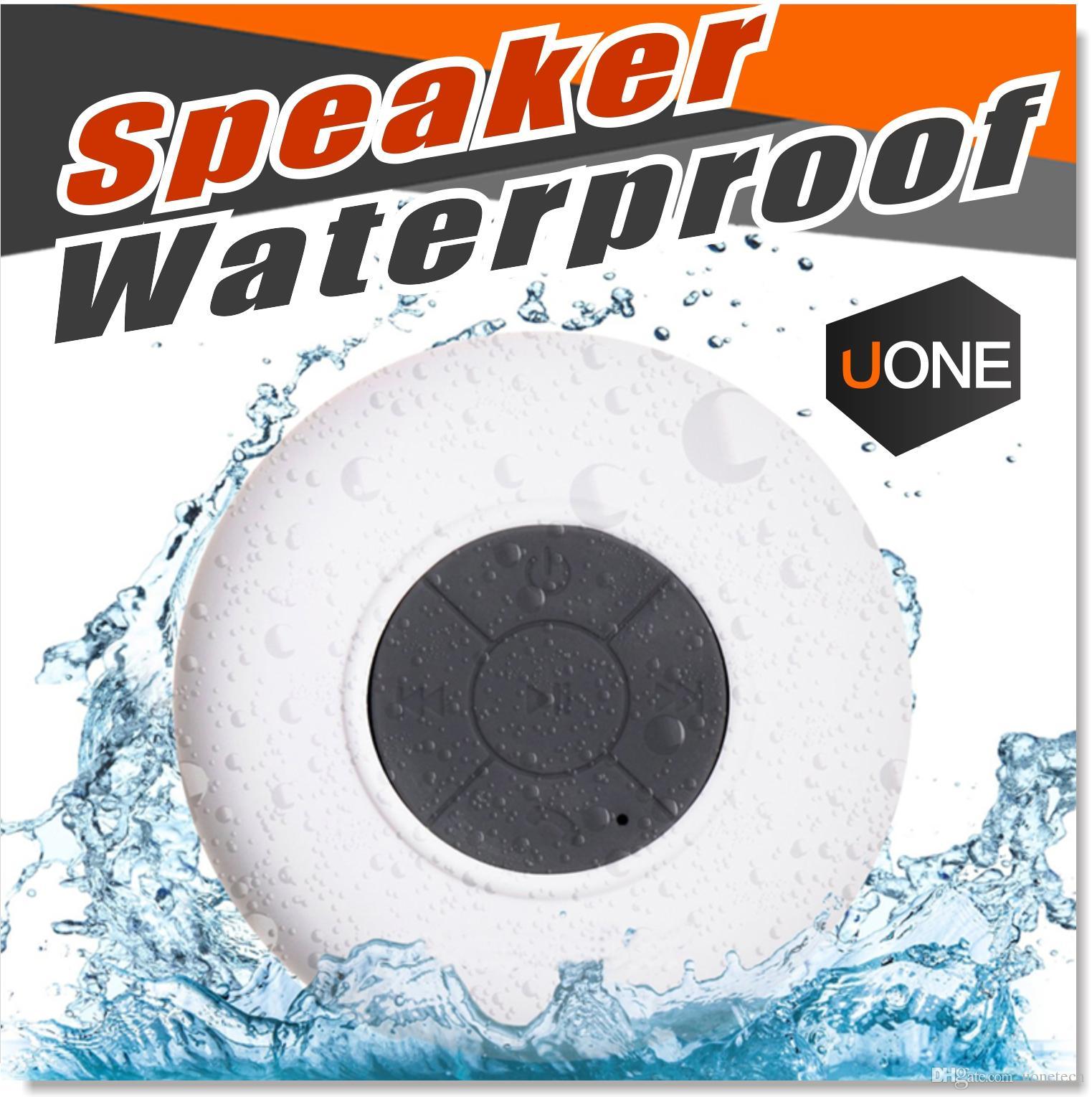 Su geçirmez Başkanı Bluetooth Kablosuz Duş Hoparlörler Eller serbest Mic Emme Chuck Araba Hoparlör Taşınabilir Mini MP3 Süper Bass Çağrı Alıcısı