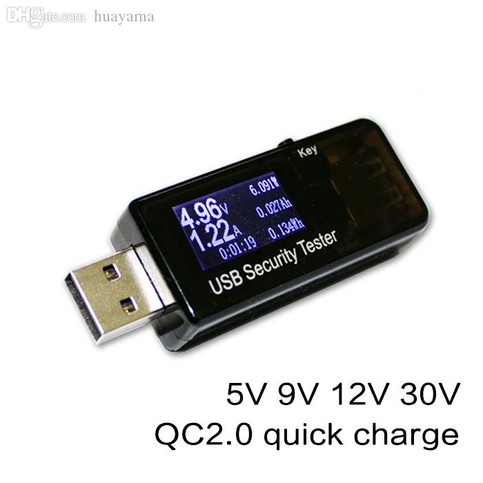 Table-Digital Dispay 3V-30V Mini Current Tower Charger Capacity Tester USB Doctor QC2. 0 quick charge power bank meter