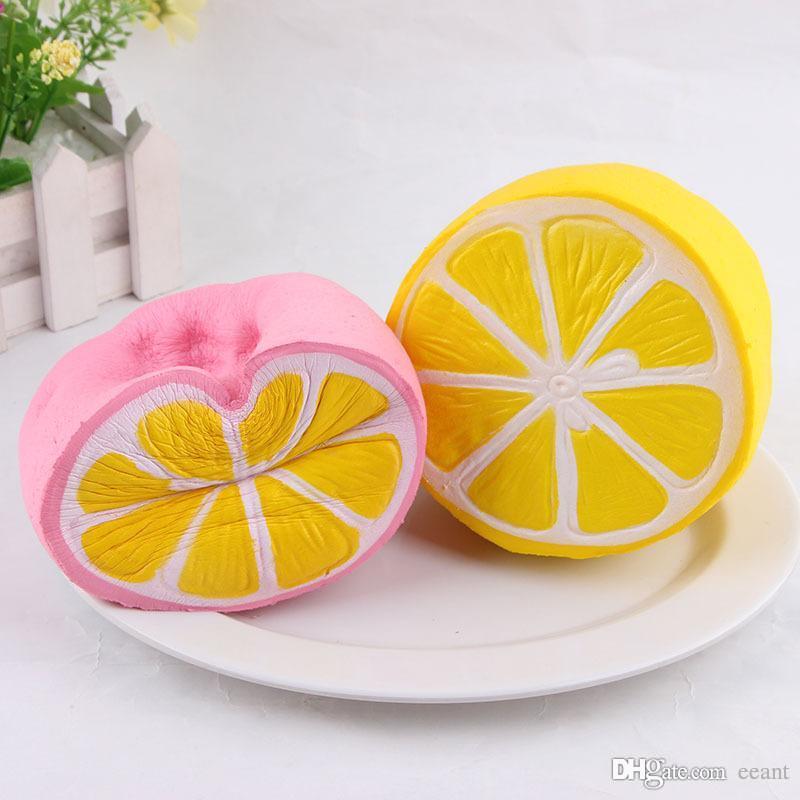 Sıcak satış 1 1 cm boyutu Jumbo kawaii Simülasyon Meyve Yavaş Yükselen Yumuşacık Kokulu Limon Yumuşacık oyuncaklar