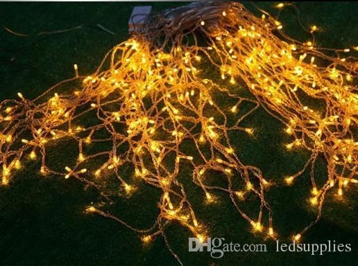 Neue 16 Mt Droop 0,7 Mt 480 LED Eiszapfen String Licht Weihnachten Hochzeit Xmas Party Dekoration Schneien Vorhang Licht Und Schwanz Stecker