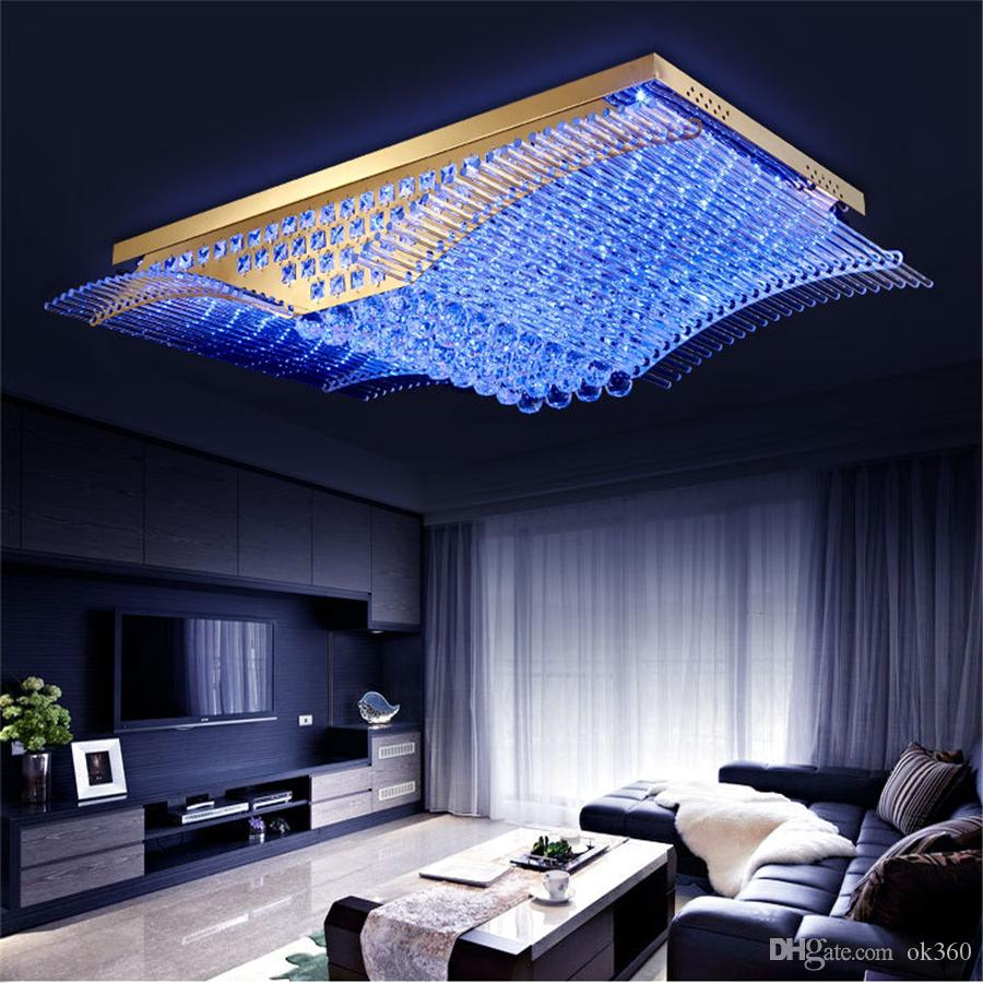 الموضة الحديثة K9 كريستال الصمام مصباح السقف ميرس أجنحة الثريا غرفة المعيشة مصابيح LED قلادة الإضاءة لاعبا أساسيا
