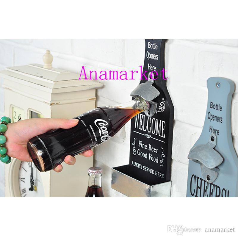 250 adet Moda Sıcak Paslanmaz Çelik Duvara Monte Bar Bira Soda Cam Kap Şişe Açacağı Mutfak Aracı Ücretsiz kargo