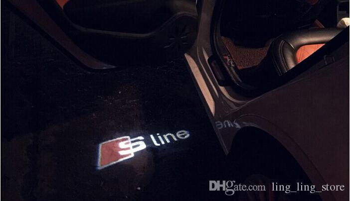 LED двери автомобиля Добро пожаловать свет Лазерная дверь автомобиля тень LED проектор s линия логотип для AUDI A3 A4 A5 A6 A7 A8 R8 Q5 Q7 TT стайлинга автомобилей