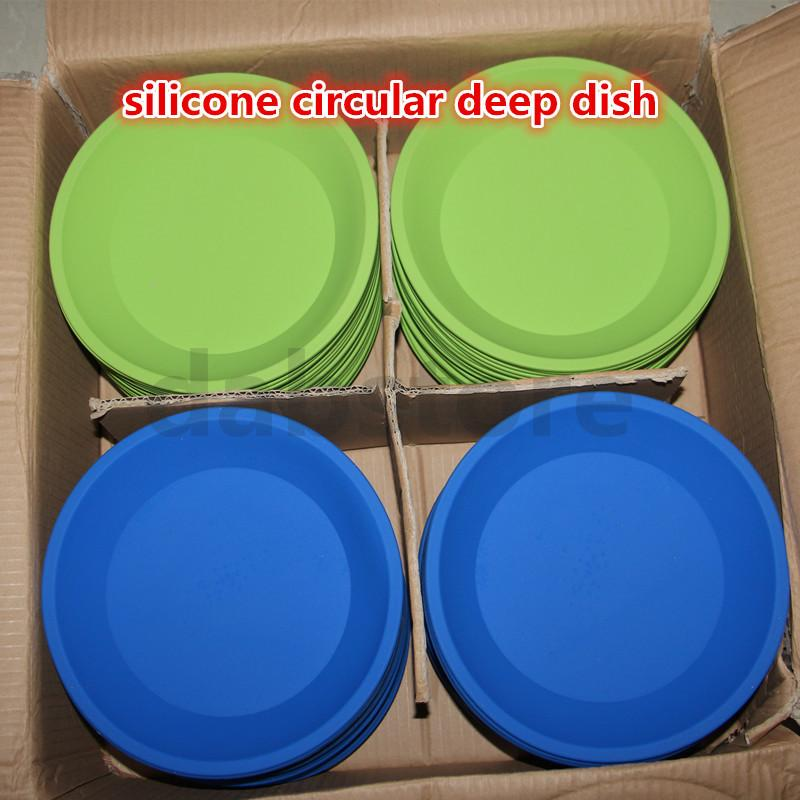 """hot DHL competitive price Deep Dish Round Pan 8"""" Non Stick Silicone Container Concentrate Oil BHO free shipping"""