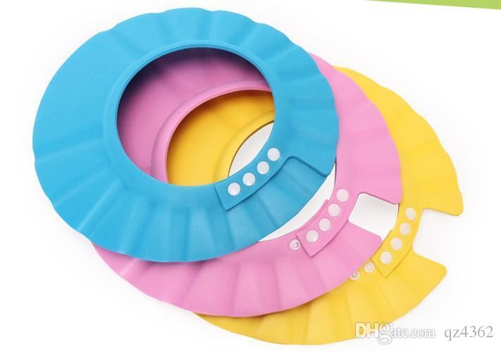 2018 3 colori sicuro shampoo doccia protezione da bagno capsule morbide cappelli per bambini 7-12 mesi