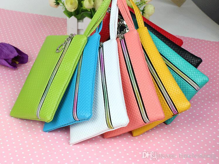 Ms mini monedero bolso promocional del bolso del teléfono del bolso de la bolsa de las bolsas sola bolsa multicolor del hombro de la cremallera billetera paquetes de teléfono móvil