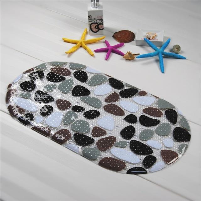 Pvc antideslizante alfombras de baño ducha de gravilla antideslizante baño y alfombras de baño para baño alfombras de piso alfombra de baño tamaño 39 * 69 cm
