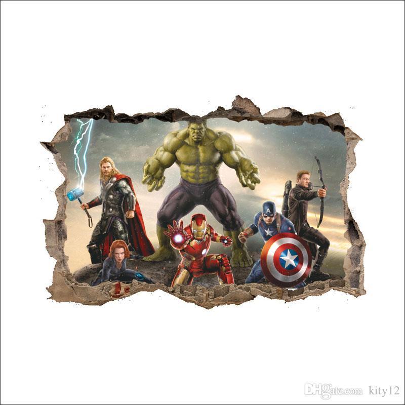 Compre Os Vingadores Super Herois Papel De Parede Criancas Menino