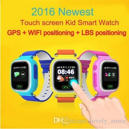 DHL fast GPS Q90 Watch Touch Screen WIFI Positioning Smart Watch Children SOS Call Location Finder Device Anti Lost Reminder PK Q60 Q80