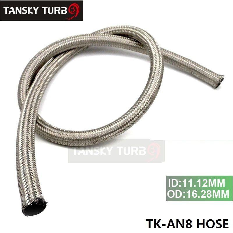 Tansky - AN 8 Manguera de gas de petróleo de línea de combustible trenzada de acero inoxidable cada 1M MANGUERA TK-AN8 de 3.3 pies