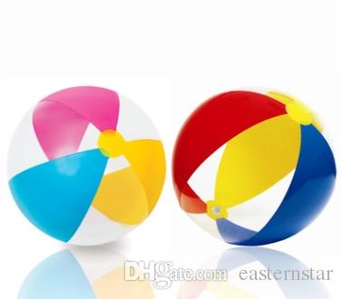 Transparent Plastic Beach Ball Set Summer Outdoor Overwater Toy Inflatable Ball for Baby Kid Child Adult