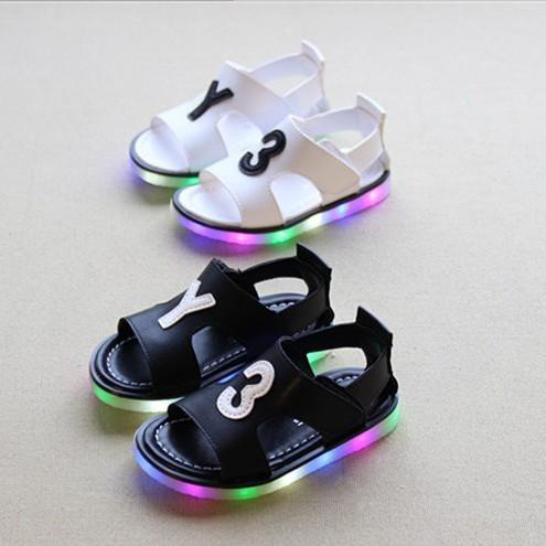 Babyschuhe Sandalen Kinder Sommer Schuhe LED Sandalen