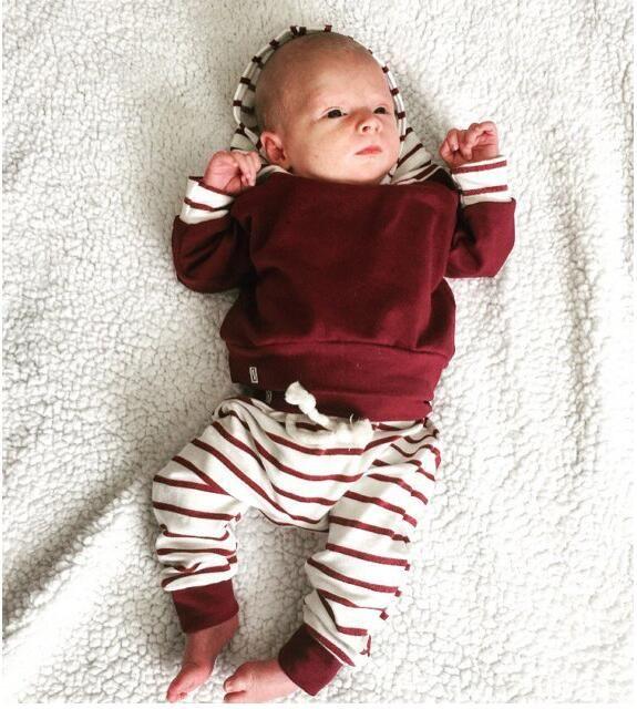 Детские толстовки устанавливает две части Девочка Мальчик красный белый толстовки костюм одежда дети осень зима с длинным рукавом одежда Детская мода одежда MBB 00