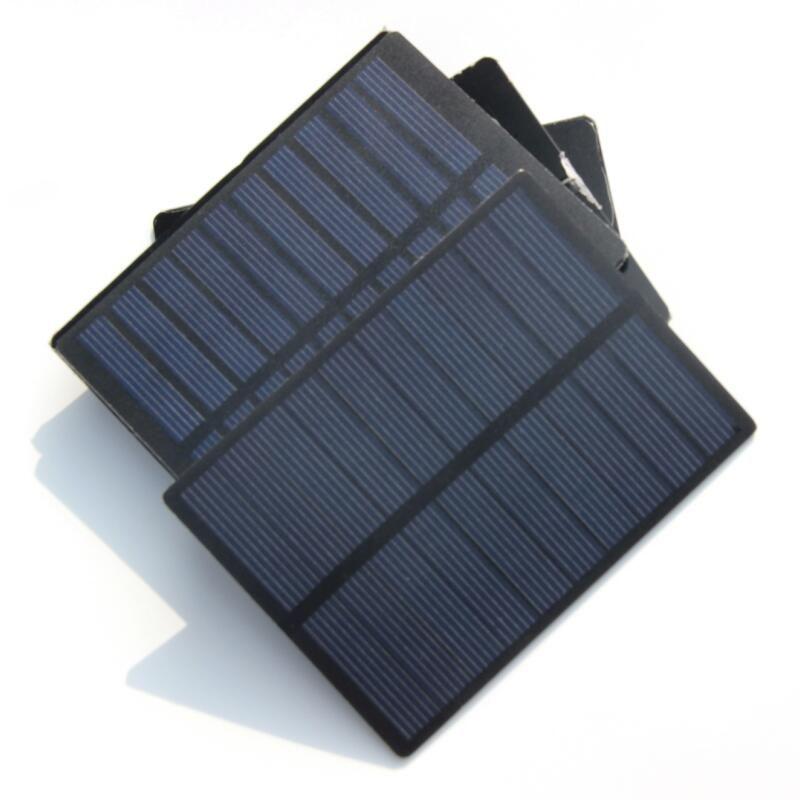 جودة عالية! 1.3W 5V البسيطة الخلايا الشمسية وحدة الخلايا الشمسية الكريستالات PET DIY الشمسية لوحة شاحن 110 * 80 * 3MM شحن مجاني