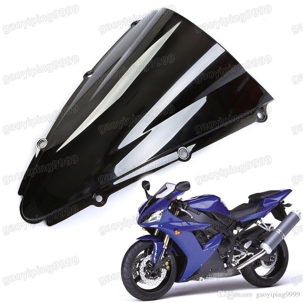 1 pcs nova motocicleta dupla bolha pára-brisa carenagem pára-brisa da lente abs para yamaha yzf-r1 2000-2001