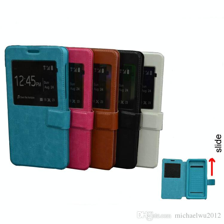Luxus Ultra Thin Elephone G2 Hülle, Leder Flip Universal Phone Cases für 4-6.0 Zoll BLU Telefone Huawei ZTE OnePlus Lenovo Fall mit TPU