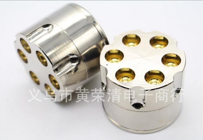 DHL livre de 3 camadas 52 * 45mm shooter estilo moedor de metal para o tabagismo grinders de tabaco à base de plantas erva seca grinde