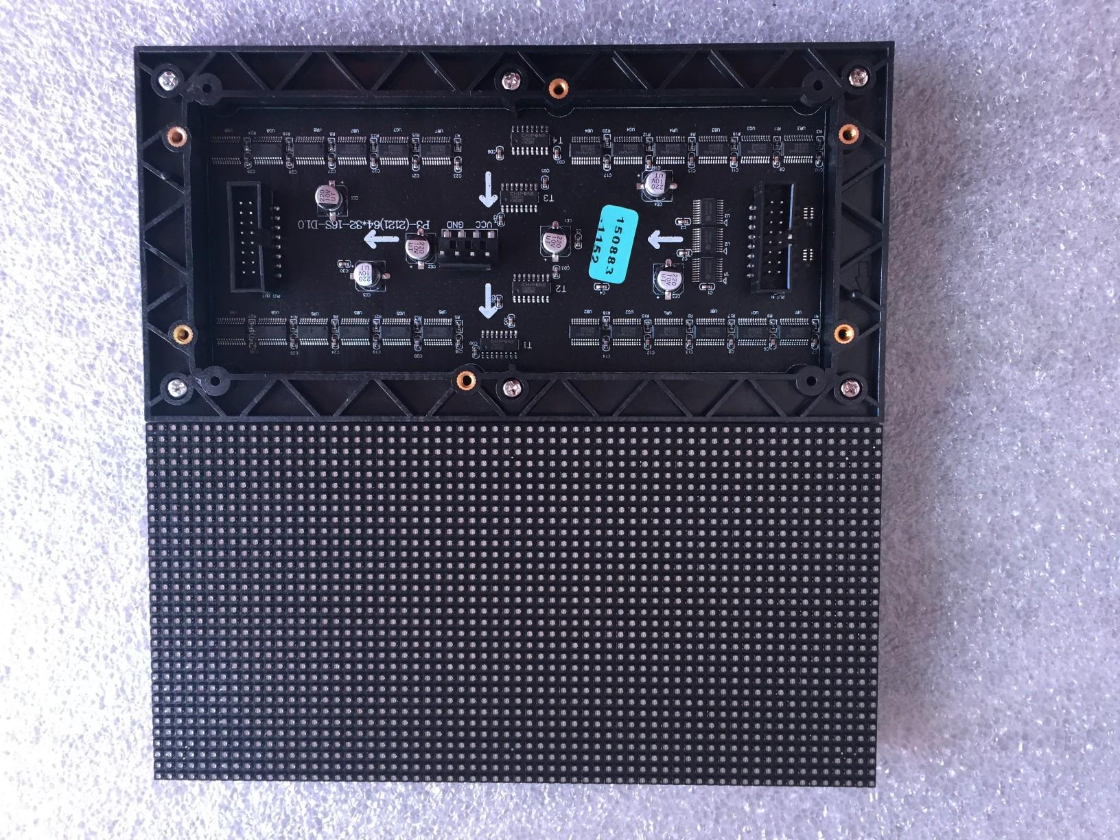 P3 Innen SMD RGB-LED-Display-Modul, 192 mm x 96 mm, 64 * 32 Pixel, p3 RGB-LED-Panel; Video, Bilder, bild, wirklich HD, Hub75, 16pin