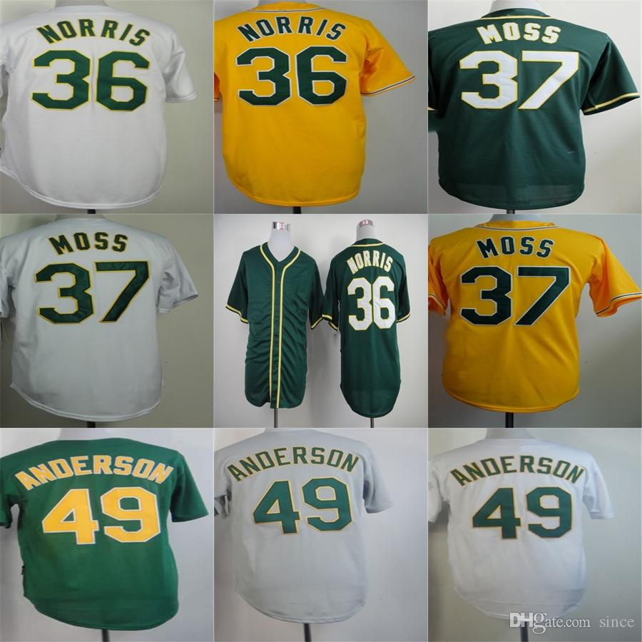 Oakland 36 Derek Norris Jersey Factory Outlet 37 Brandon Moss 49 Brett Anderson 29 Jeff Samardzija Quality Jerses de baseball cousu