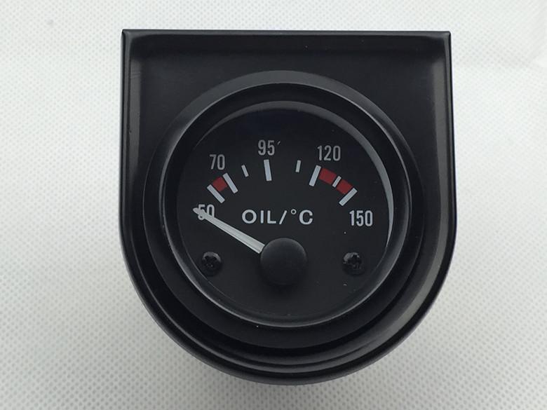 """2 """"Polegada 52mm Medidor de Temperatura Do Óleo Elétrico Medidor 50-150C Face Preta Com Sensor Incluem Suporte"""