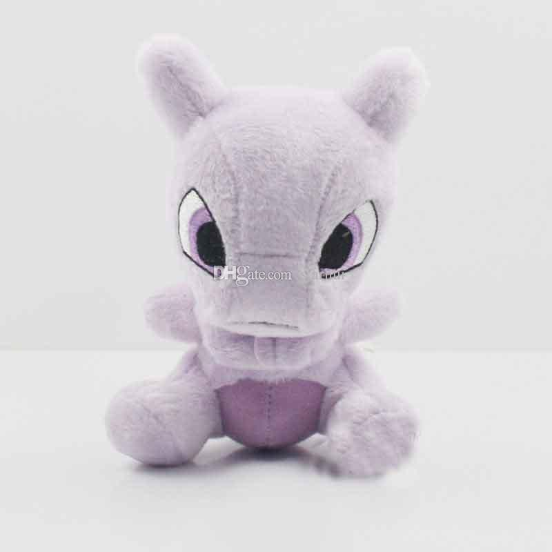 Plüsch-Puppe spielt Mewtu gestopfter weicher Plüsch-Puppe-Spielwaren-Taschen-Monster füllte Karikatur-Tier-Abbildung Spielzeug-Weihnachtsgeschenke EMS 14cm (5.5inch) WX-T58 an